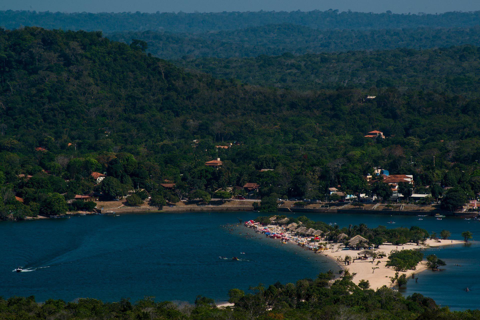 Vista da Serra da Piroca - Alter do Chão - Santarém - Pará