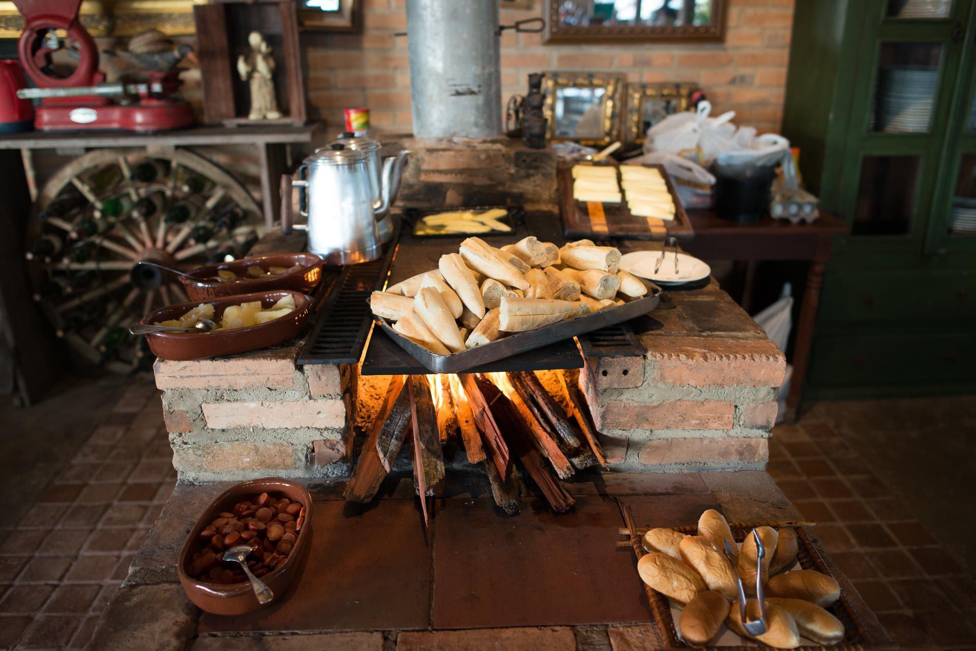 Café da manhã no Hotel Fazenda Vitória
