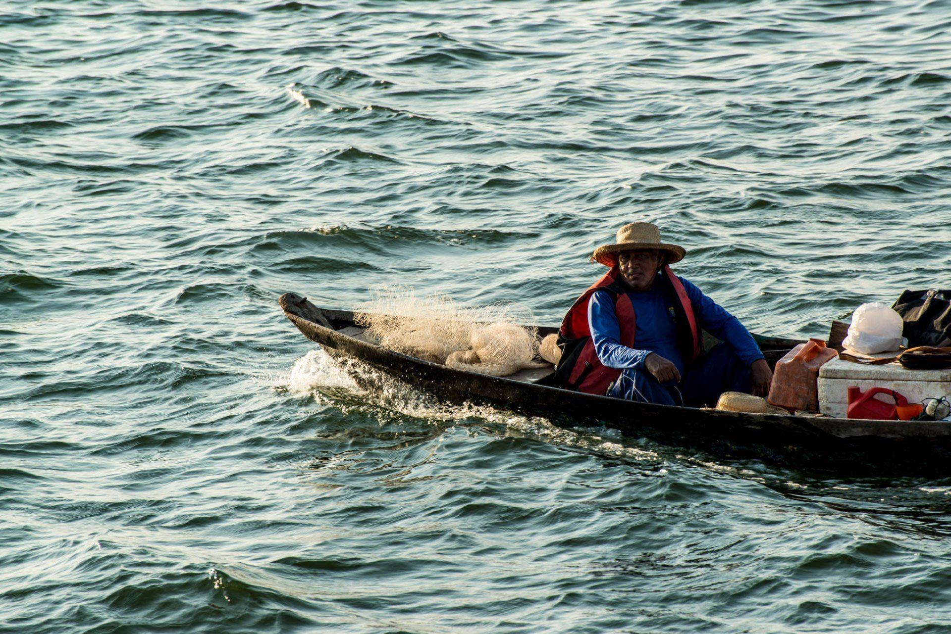 Pescador em Santarém