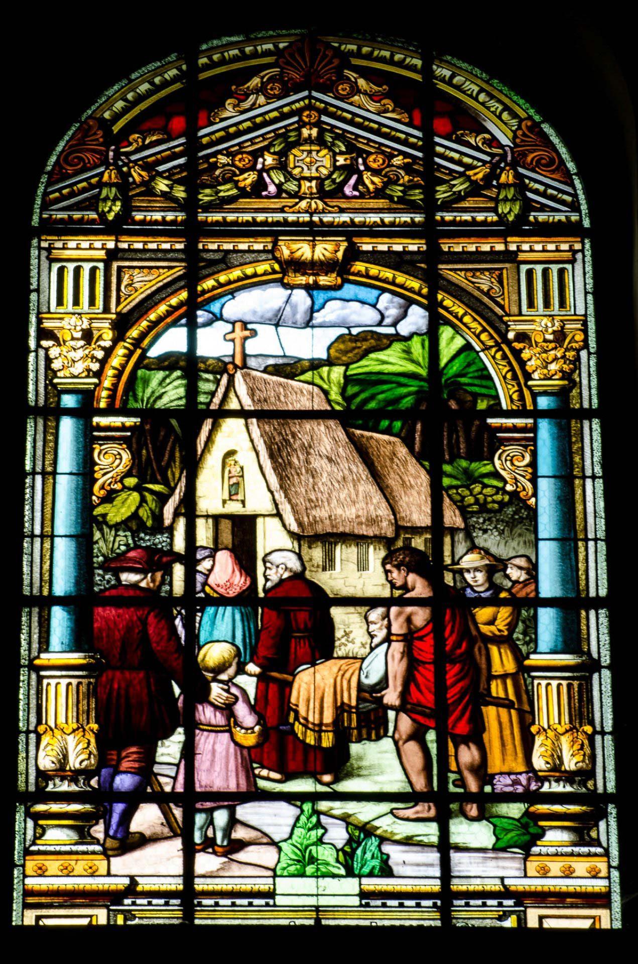 Segunda ermida de Nazaré - Vitrais da Basílica de Nazaré - Be