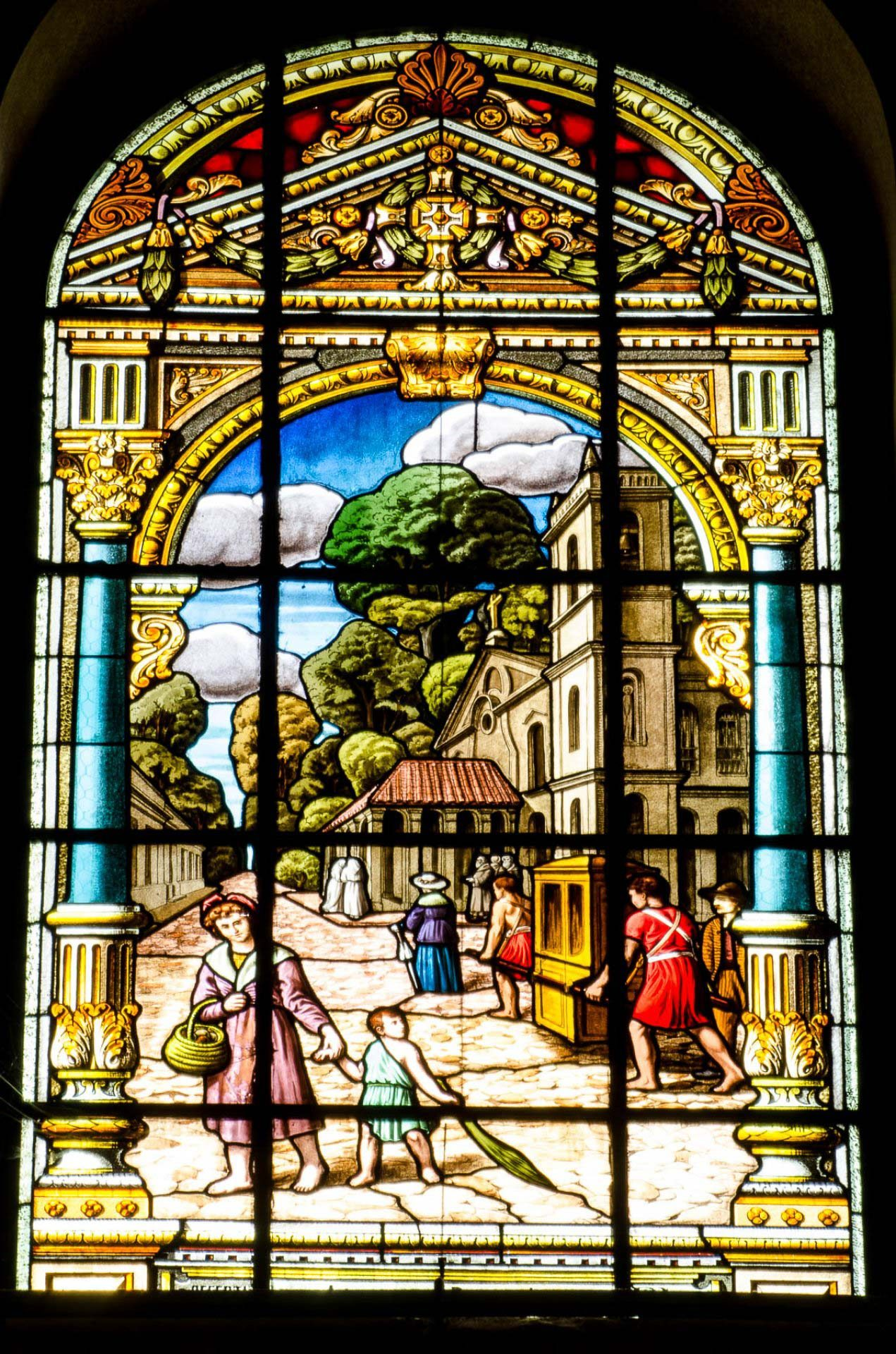 Terceira ermida de Nazaré - Vitrais da Basílica de Nazaré - B