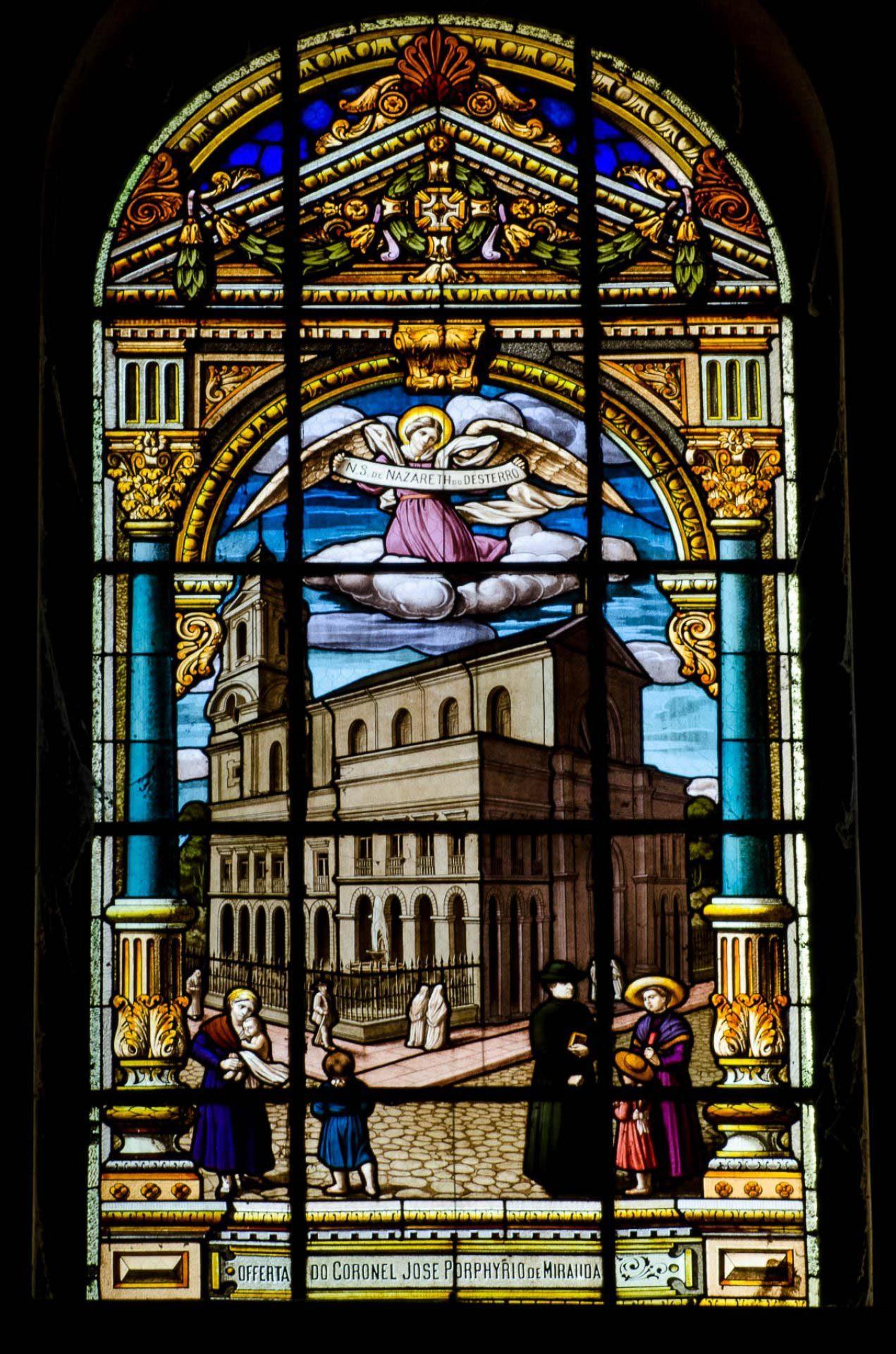 A matriz de Nazaré - Vitrais da Basílica de Nazaré - Belém
