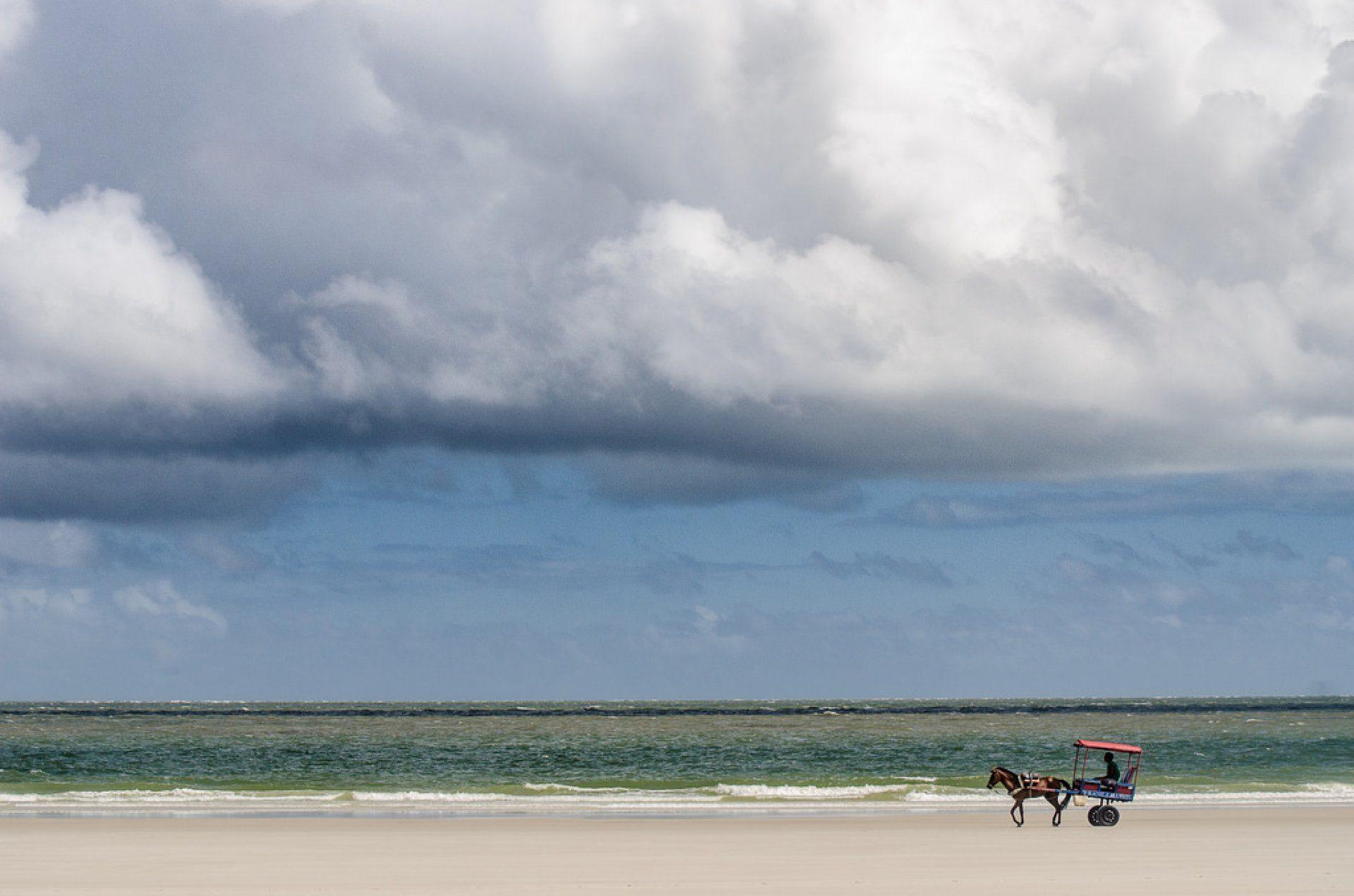 A bela praia de Algodoal