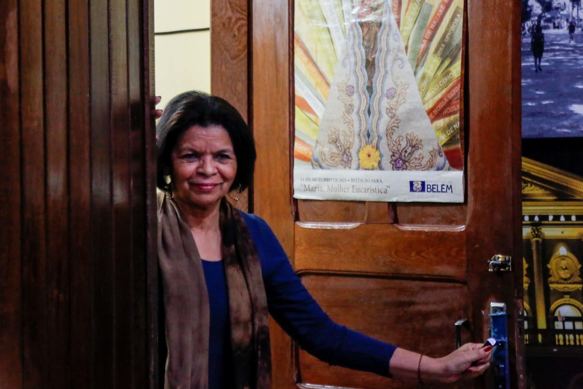 Nazaré Moraes, gerente do Cine Olympia